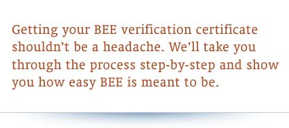 BEE Verification SANAS Accredited Verification
